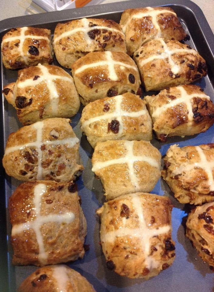 Hot Cross Buns  Made in Thermomix