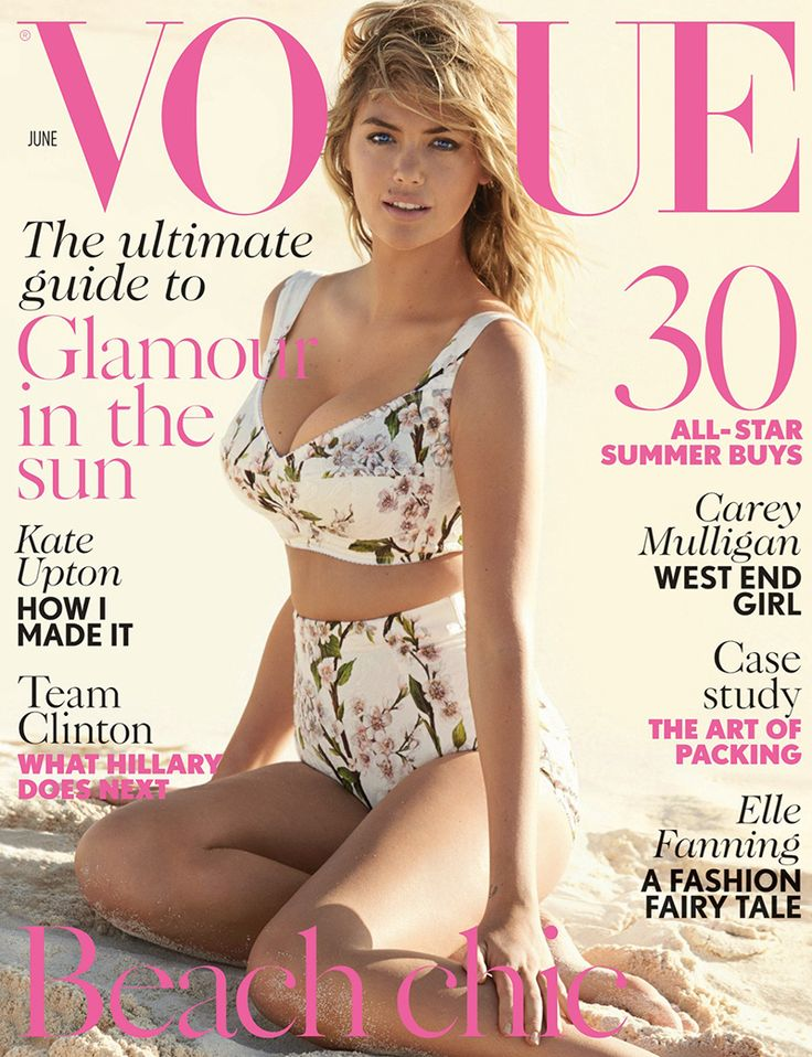kate upton vogue uk 2014 cover Kate Upton Covers Vogue UK, Talks Being Compared to Marilyn Monroe