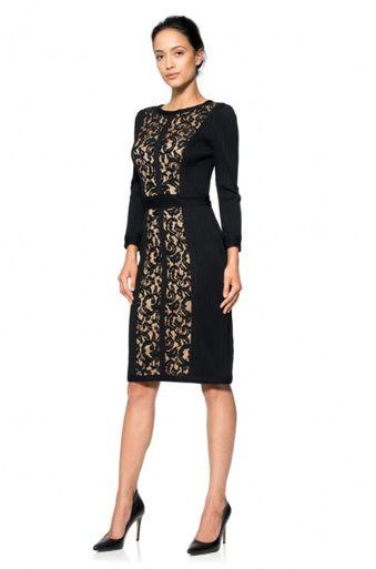 #tadashishoji #black #lace #dress #simle #elegance