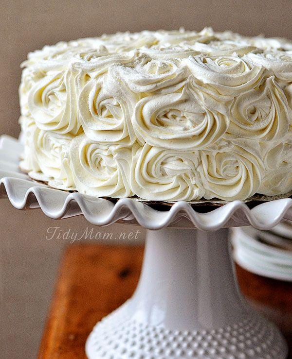 Red Velvet Cinnamon Layer Rose Cake #recipe TidyMom.net