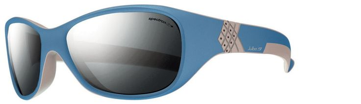 Julbo Solan Kids Sunglasses, Black Tint, Blue/Grey. Julbo provides top-of-the-line lenses for kids sunglasses, just like the grown-ups. All Julbo lenses are optical class 1. They offer 100% protection against UVA, B and C rays. Wrap-around design provides excellent coverage. Shock absorption. Curved temples.