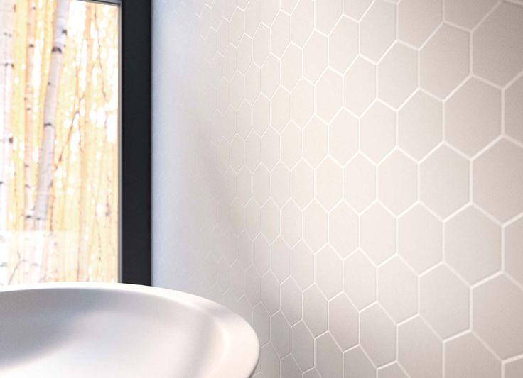 Zirconio smooth white mosai wand tegels pinterest for Zirconio tegels