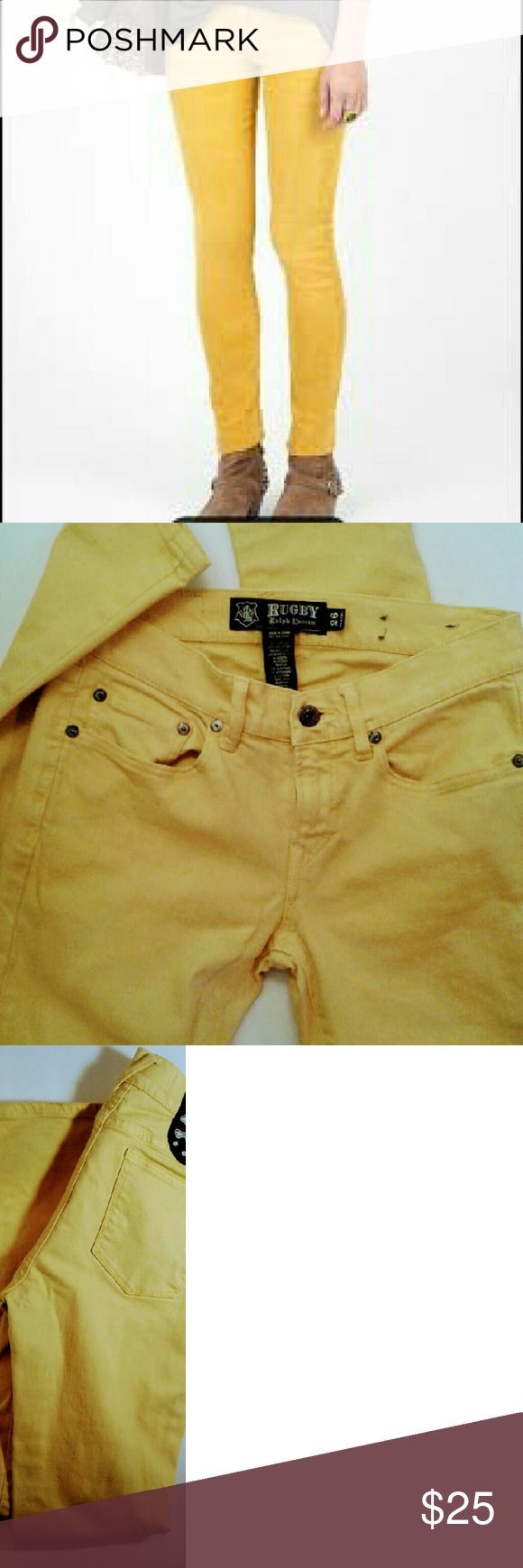 RUGBY Ralph Lauren Polo jeans Rugby Ralph Lauren Polo jeans 96% cotton 4% elastane... straight/ fitted ... machine wash cold insde out to reserve on color... Like New!!! No Stains ... excellent condition .. PRICE FIRM RUGBY RALPH LAUREN POLO  Jeans Skinny