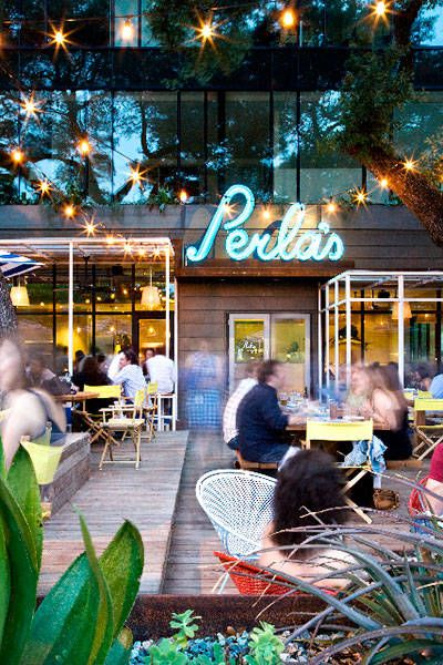 Austin's many acclaimed restaurants: Second Bar + Kitchen for brunch & Perla's on South Congress is the place to go for fresh seafood. Or head to Qui, Top Chef winner Paul Qui's flagship restaurant for the celebrity chef experience.     - HarpersBAZAAR.com