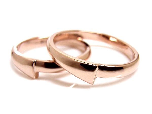 AMBRACE K18 pink gold ring stylish round ピンクゴールド ペアリング スタイリッシュ ラウンド