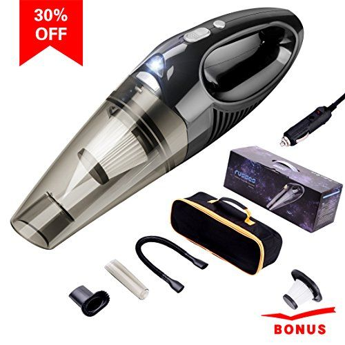 Car Vacuum Cleaner DC 12V 106W Stronger Suction Portable Handheld Auto Vacuum Cleaners for Car 16.4FT(5m) Power Cord with LED Light and 2 HEPA Filters (Black) - Technical Parameters: Product Name: Car Vacuum Cleaner Input Current: ≤10A Input Voltage: DC-12V Power: 106W Power Cord Length: 5m (16.4ft) Vacuum Degree: 4000Pa Decibel: ≤70DB Weight: 23oz/652g Package Contents: Car Vacuum Cleaner Long Elastic Hose Narrow Plastic Tube Nozzle Brush ...