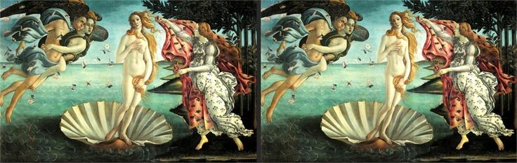 La Venere del Botticelli ritoccata da Anna Utopia Giordano per evidenziare la follia della taglia zero
