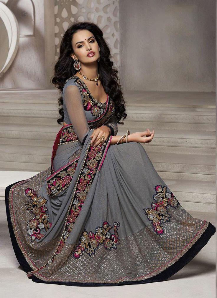 Astonishing Lycra Designer Saree