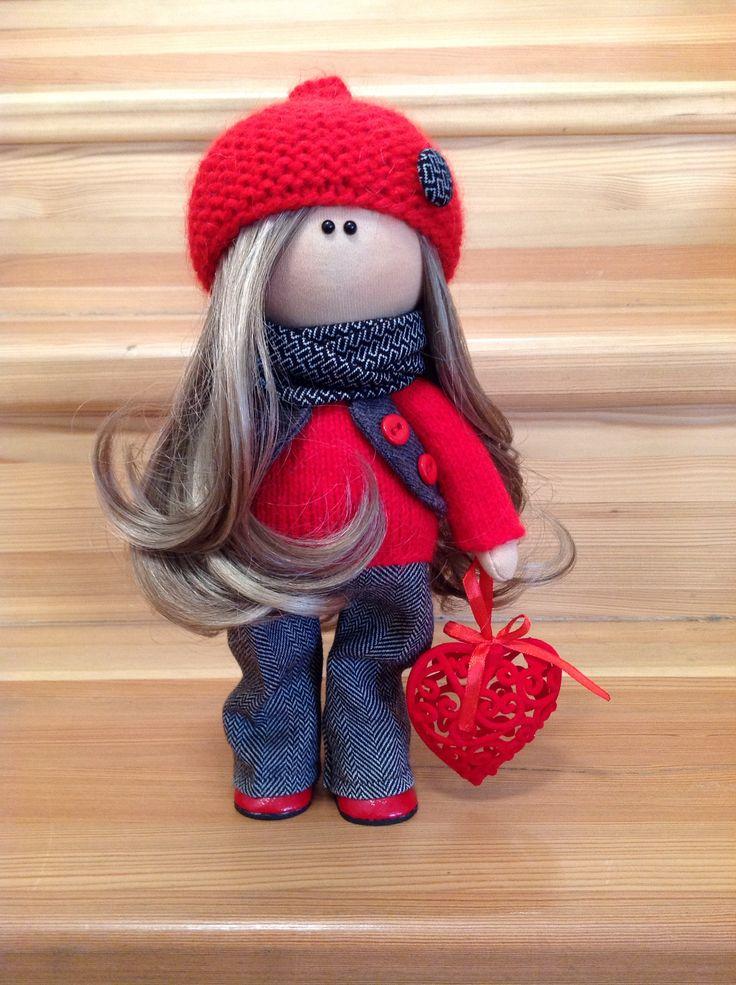 Интерьерная куколка Алина, рост 27 см