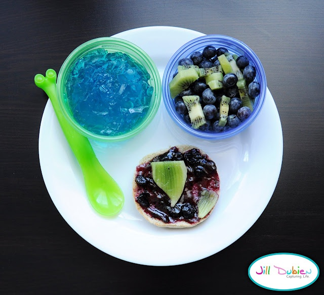 earth day snacks - blue and green