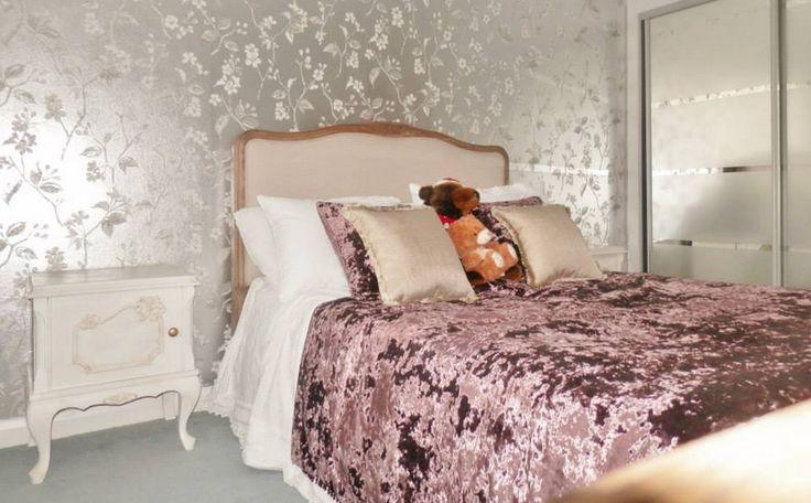 Love metallics? Create a luxurious bedroom with lustrous metallic wallpapers from our Galleria wallcoverings like Opal Interiors... www.prestigious.co.uk/wallcoverings/galleria