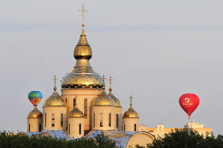 Cherkassy, Ukraine. The place I called home for almost 5 years. I cud see th tips of this church pretty much werever I looked.