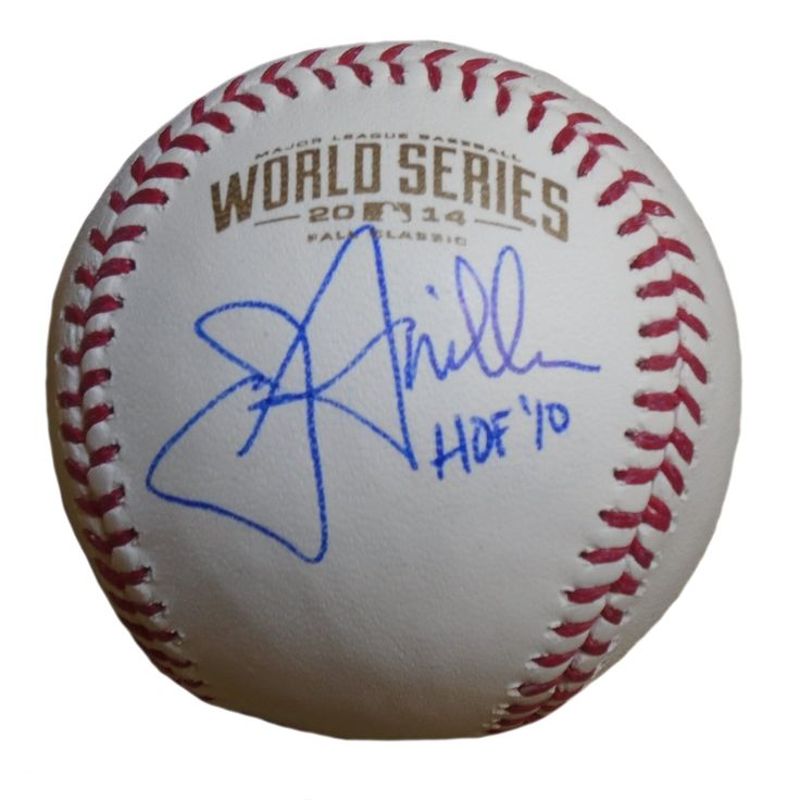 """Jon Miller Autographed Rawlings 2014 World Series Official Game Baseball w/ Inscription. Jon Miller Signed Rawlings 2014 World Series Official Game Baseball Featuring """"HOF '10"""" Inscription! San Francisco Giants, Proof   This is a brand-new Jon Miller autographed Rawlings 2014 World Series official league leather baseball featuring """"HOF '10"""" inscription! Jon signed the baseball in blue ball point pen.Check out the photo of Jon signing for us. ** Proof photo is included for free with…"""