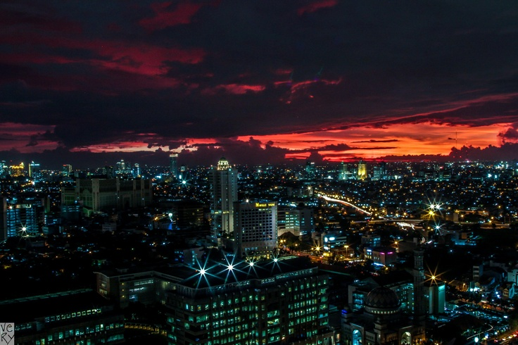 Jakarta, after the sun goes down