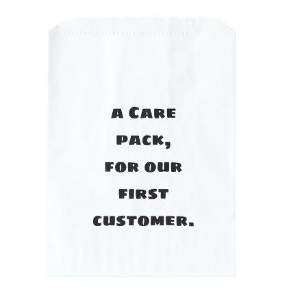 A care pack for our first customer favor bag - craft supplies diy custom design supply special