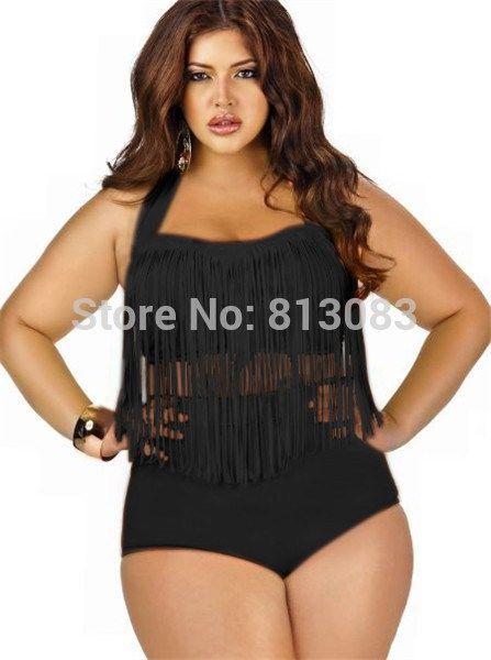 bbfae1440b156 Hot Sale Plus Size Tassels Bikinis High Waist Sexy Swimsuit Women Bikini  Swimwear Padded Fringe Shinny Bathing Suit 11 Colors www.peoplebazar.net    ...