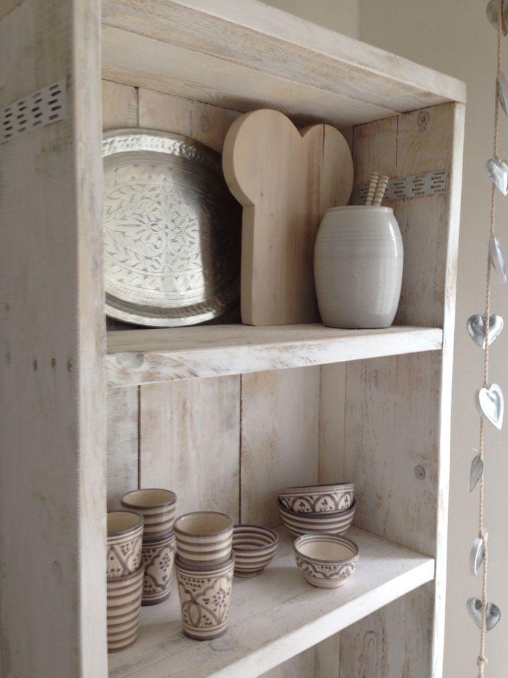 Open kast van steigerhout  Steigerhout. ♡  Pinterest  Van