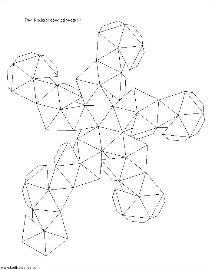 best 25  dodecahedron template ideas on pinterest