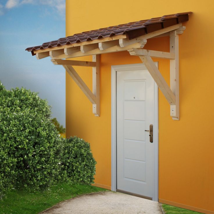 Wood Door Canopy Wood Canopy Porch Door Awning 2050 Mm