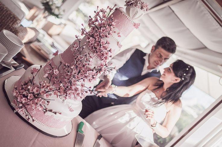 cherry blossom cake wedding