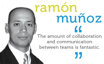 The amount of collaboration and communication between teams is fantastic.