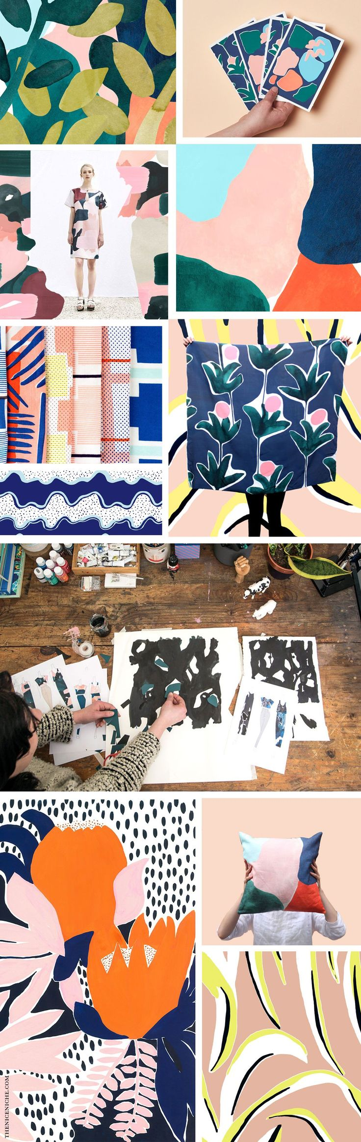 Interview with Cassie Byrnes, Textile + Surface Designer about her creative process