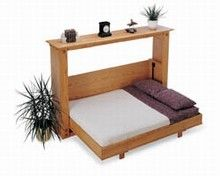 Murphy Bed  ADD A DROP DOWN TABLE SHELF ON THE UNDER SIDE OF BED ....