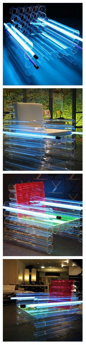 Креативная идея- легкие излучающие свет кресла
