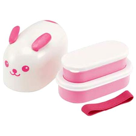 japan kawaii rabbit usagi bento 2 tier lunch box set with belt free shipping lunchbox love. Black Bedroom Furniture Sets. Home Design Ideas