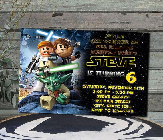 Star Wars Lego / invitación de Lego Star Wars / Star wars Lego cumpleaños invitación / Star Wars Lego fiesta / cumpleaños de Lego Star Wars / Star Wars