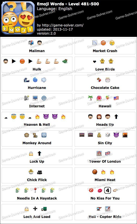 Emoji Words Level 481-500