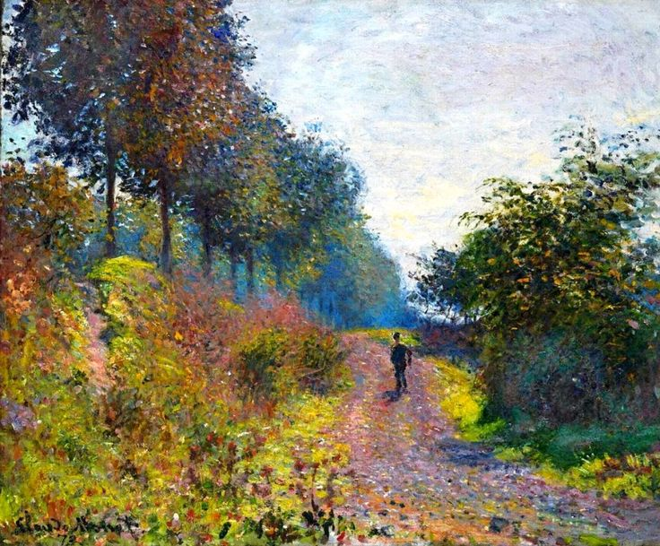 Claude Monet. The Sheltered Path (1873).