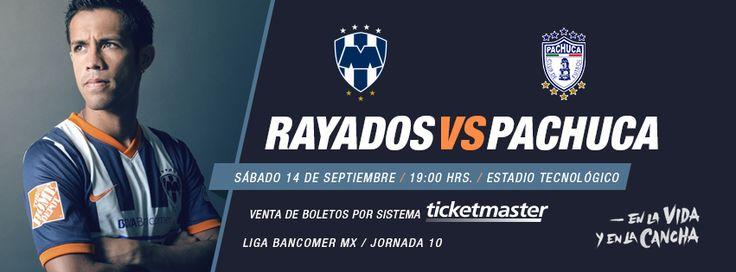 Jornada 10 de la @Liga Bancomer MX  Partido #Rayados vs. Pachuca el sábado 14 de septiembre a las 19:00hrs en el Estadio Tecnológico.