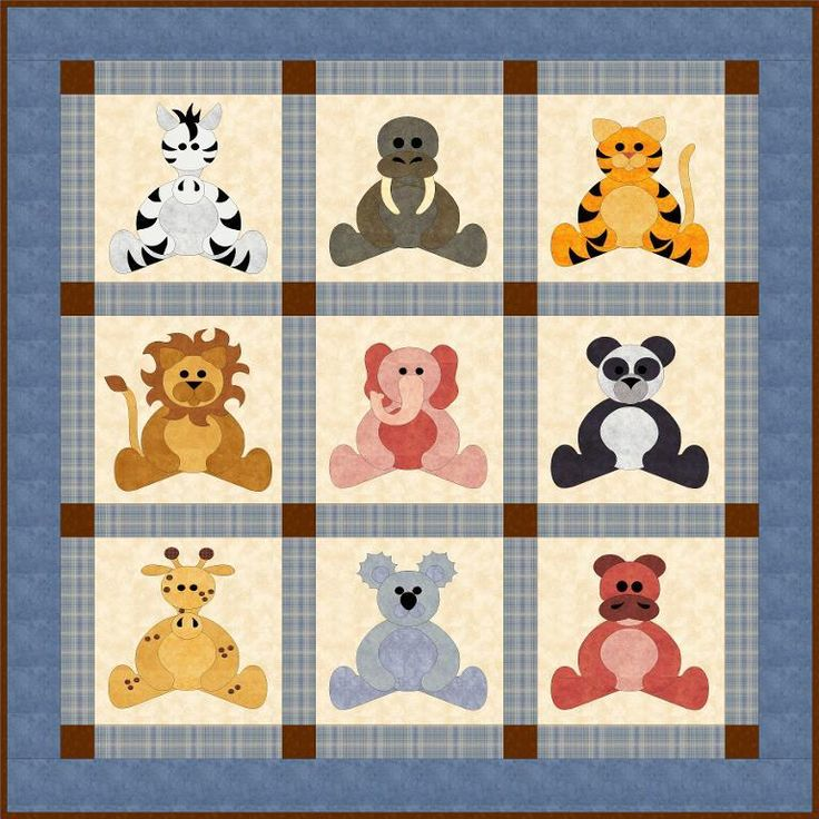 Zoo Babies Baby / Wall Quilt pattern $10.00 on Craftsy at http://www.craftsy.com/pattern/quilting/home-decor/zoo-babies/56848