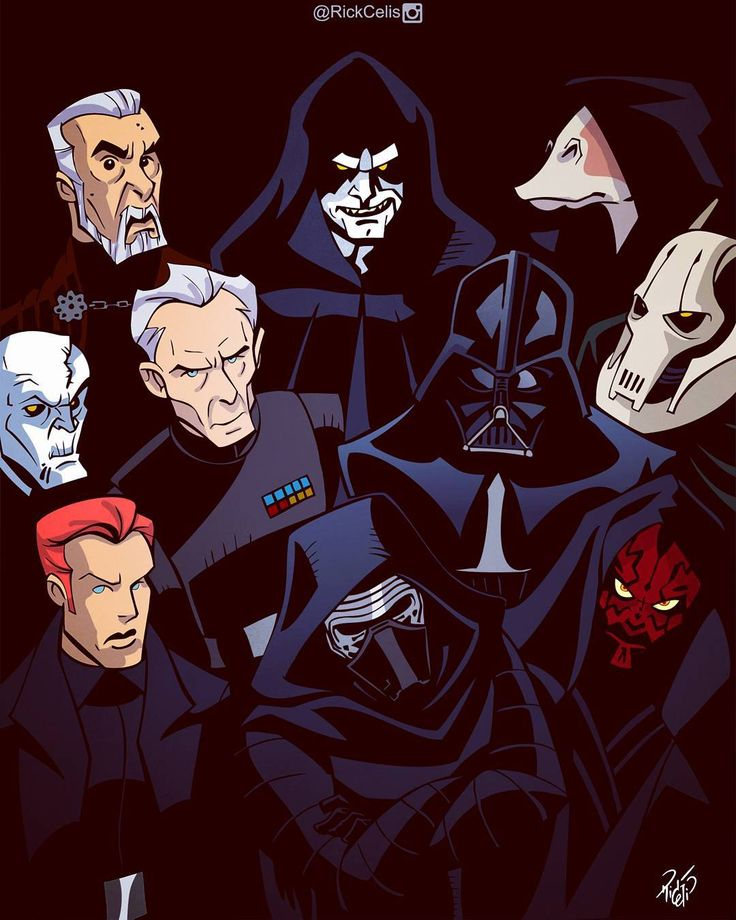 Star Wars Villains - Rick Celis ~ I LOVE that jar jar is included with the villains
