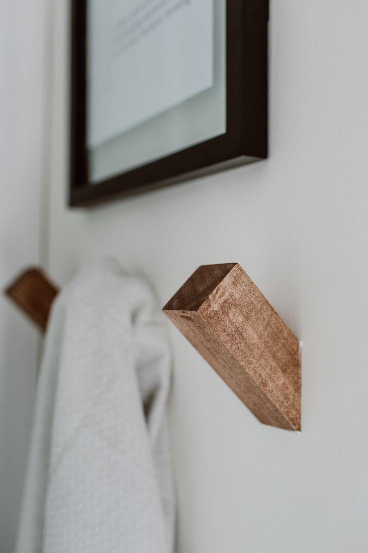 Modern Guest Bathroom Reveal One Room Challenge Week 6 Handtuch Bathroom Challenge Guest Modern Mit Bildern Dekorative Handtucher Badezimmer Holz Badezimmer Diy