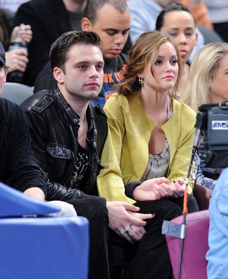 Photos of Gossip Girl's Chace Crawford, Leighton Meester, Ed Westwick, Sebastian Stan at the Knicks Game in NYC | POPSUGAR Celebrity