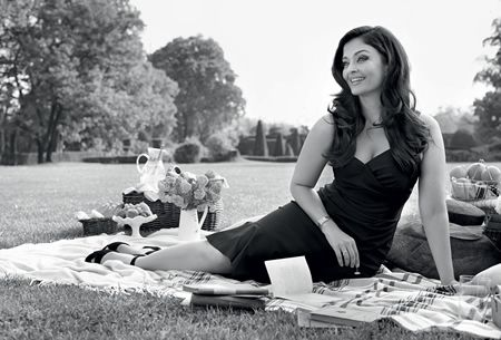Longines Ambassador of Elegance, Aishwarya Rai Bachchan, presents the new DolceVita collection during a Garden Party in the gardens of the Chantilly Castle in France.