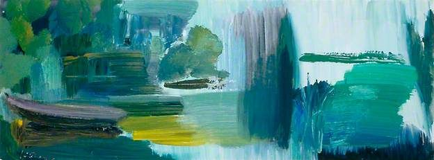 River and Distance with a Boat by Ivon Hitchens.
