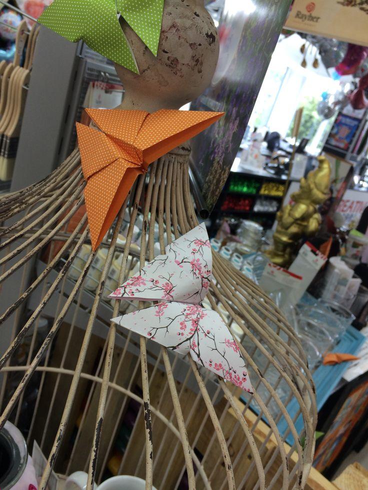 #Origami #Schmetterlinge #Frühlingsdeko