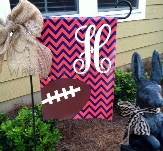 Amazing Custom Personalized Yard Sign Football Chevron YOU PICK COLORS