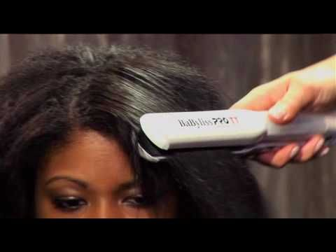 Babyliss Pro TT Steam Flat Iron Tutorial YouTube | Hair