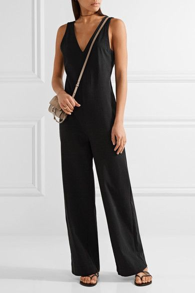 James Perse - Palazzo Cotton-jersey Jumpsuit - Black -