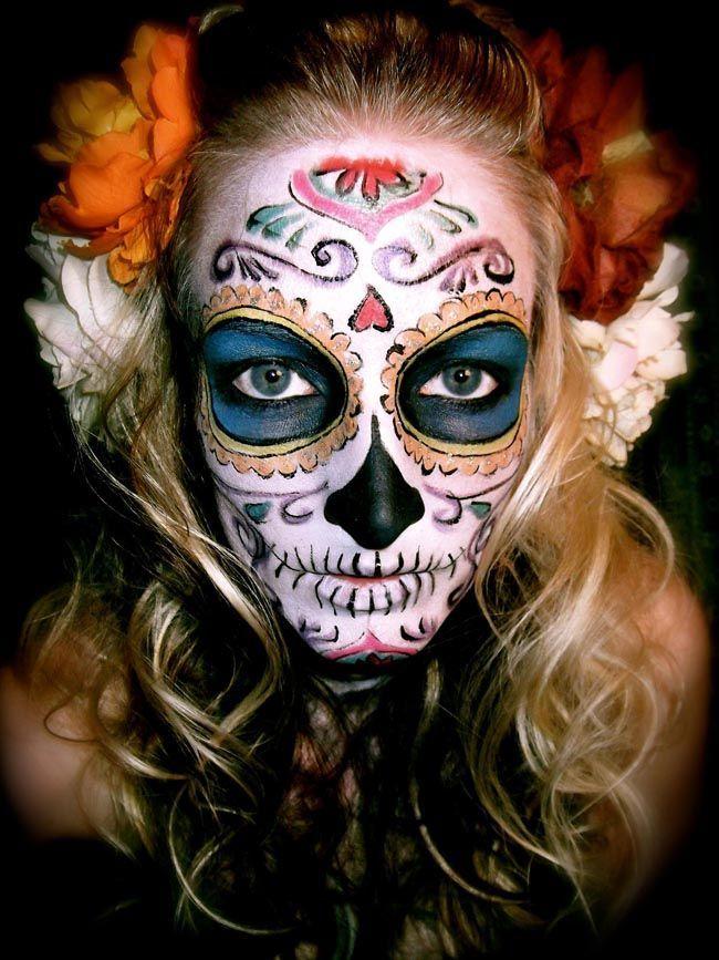 sugar scull makeup | Sugar skull makeup | Samhain /dia de ...