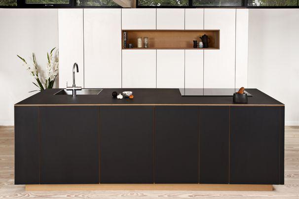 At Steen Blichersvej we created a kitchen in oregon pine without handles. #scandinavian #kitchen #design