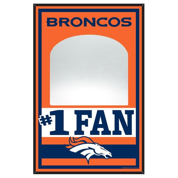 "Denver Broncos WinCraft 11"" x 17"" Wood Sign with Mirror - $36.99"