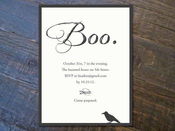 Best RCR Halloween Invitaion Images On Pinterest Holidays - Halloween wedding invitations templates