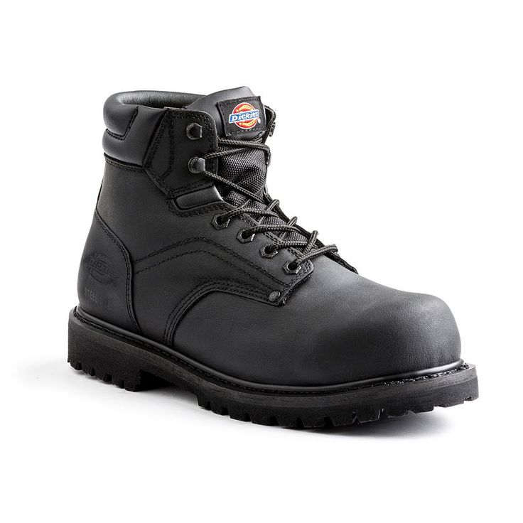 Dickies Ratchet EH Men's Steel-Toe Work Boots, Size: 10.5, Black