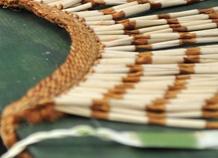 Te Puia hosts the national weaving school, revitalising traditional Maori weaving