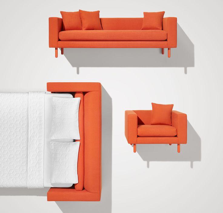 mono modern sleeper sofa single cushion sofa blu dot - Modern Sleeper Sofa